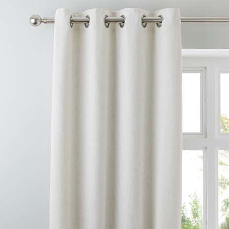Purity Natural Lined Eyelet Curtains