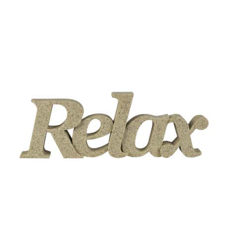Resin Relax Word Decor