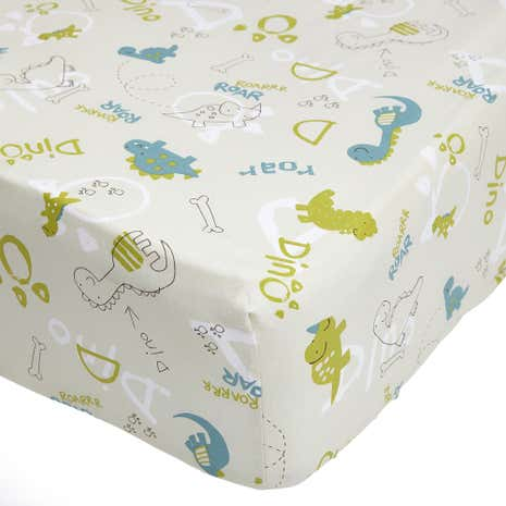 Roaring Dino 15cm Fitted Sheet