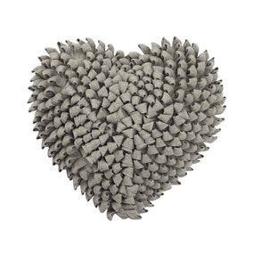 Ruffled Heart Cushion