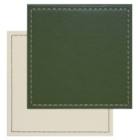Set of 4 Green Reversible Coasters