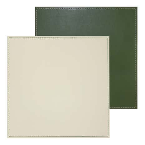 Set of 4 Green Reversible Placemats