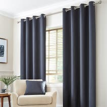 Charcoal Seattle Thermal Eyelet Curtains