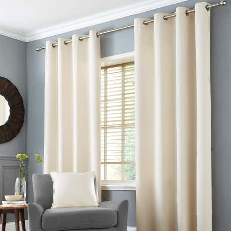 Seattle Natural Thermal Eyelet Curtains