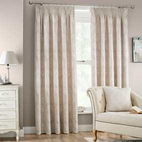 Seraphina Linen Lined Pencil Pleat Curtains