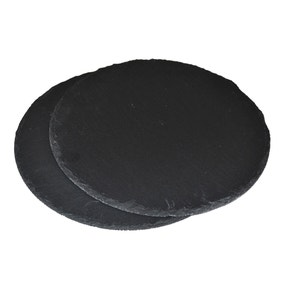Set of 2 Round Slate Placemats