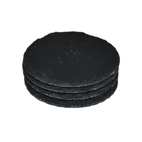 Set of 4 Round Slate Coasters