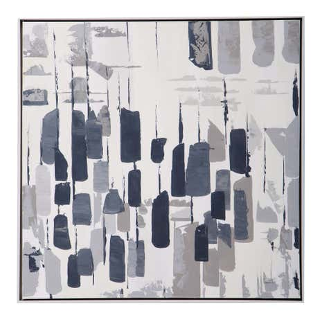 Grey Simplicity Abstract Canvas