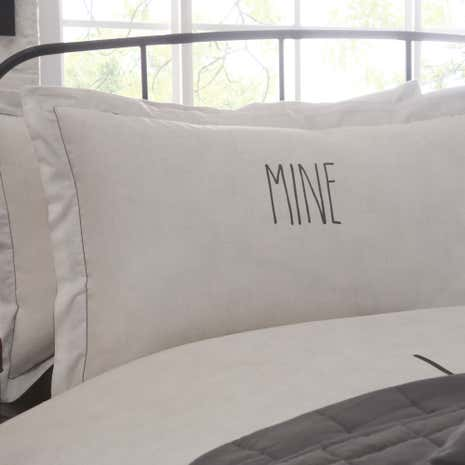 Simplicity Grey Mine Oxford Pillowcase