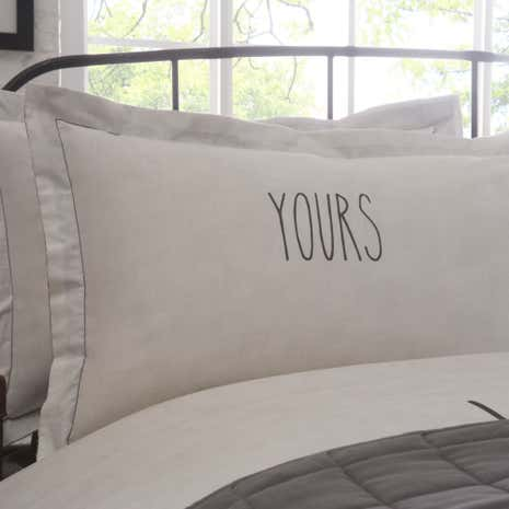 Simplicity Grey Yours Oxford Pillowcase