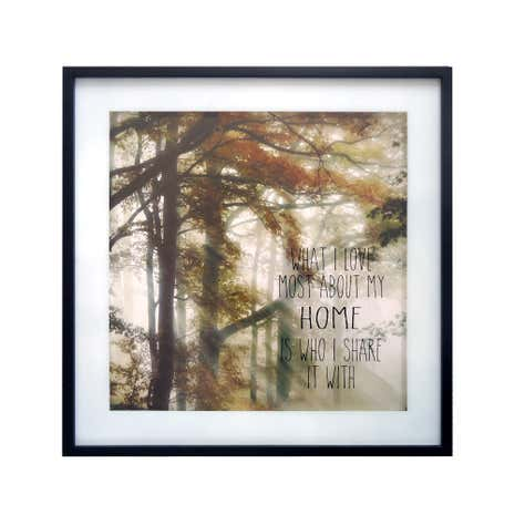 Woodland Framed Glass Print