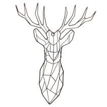 Black Simplicity Stag's Head Wall Art