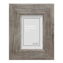 Grey Simplicity Wood Effect Photo Frame