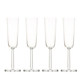 Simplicity Set of 4 Flute Glasses