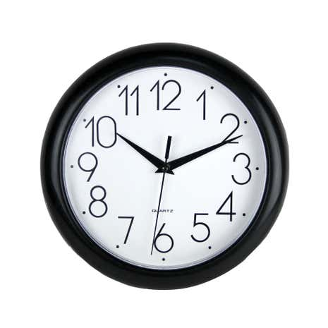 Black Simply Plastic Wall Clock