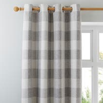 Natural Skye Lined Eyelet Curtains