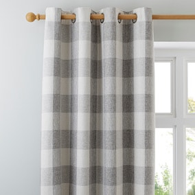 Skye Natural Lined Eyelet Curtains