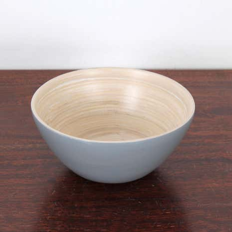 Small Bamboo Serve Bowl Grey