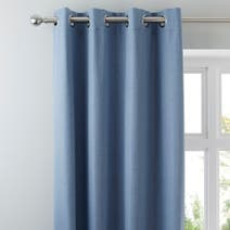 Chambray Solar Blackout Eyelet Curtains