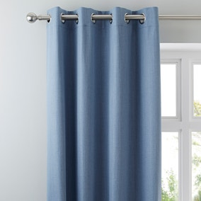 Solar Chambray Blackout Eyelet Curtains