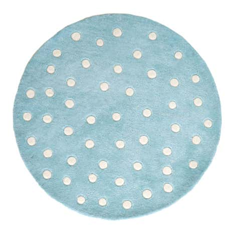 Kids Duck-Egg Spots Round Rug