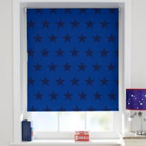 Blue Stars Cordless Blackout Roller Blind