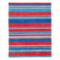 Kids Red Stripe Rug