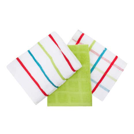 Pack of 5 Bright Terry Tea Towels