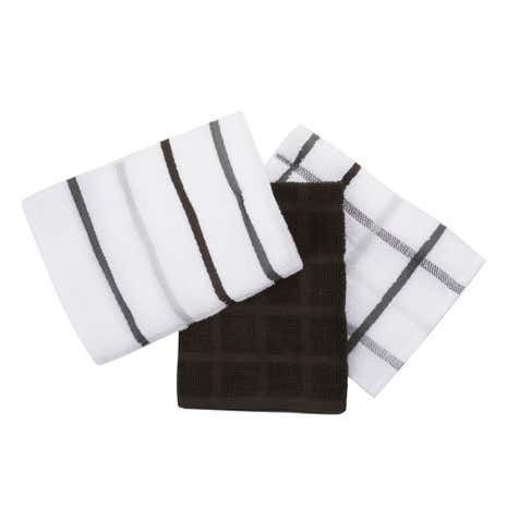 Pack of 5 Dark Terry Tea Towels