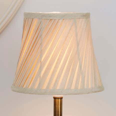 Champagne Twisted Pleat Lamp Shade Dunelm