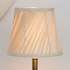 Champagne Twisted Pleat Lamp Shade