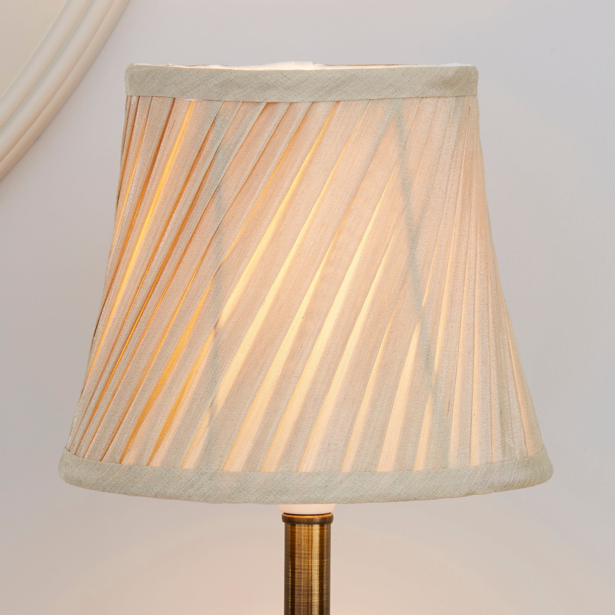 Dunelm Wall Lamp Shades : Champagne Twisted Pleat Lamp Shade Dunelm