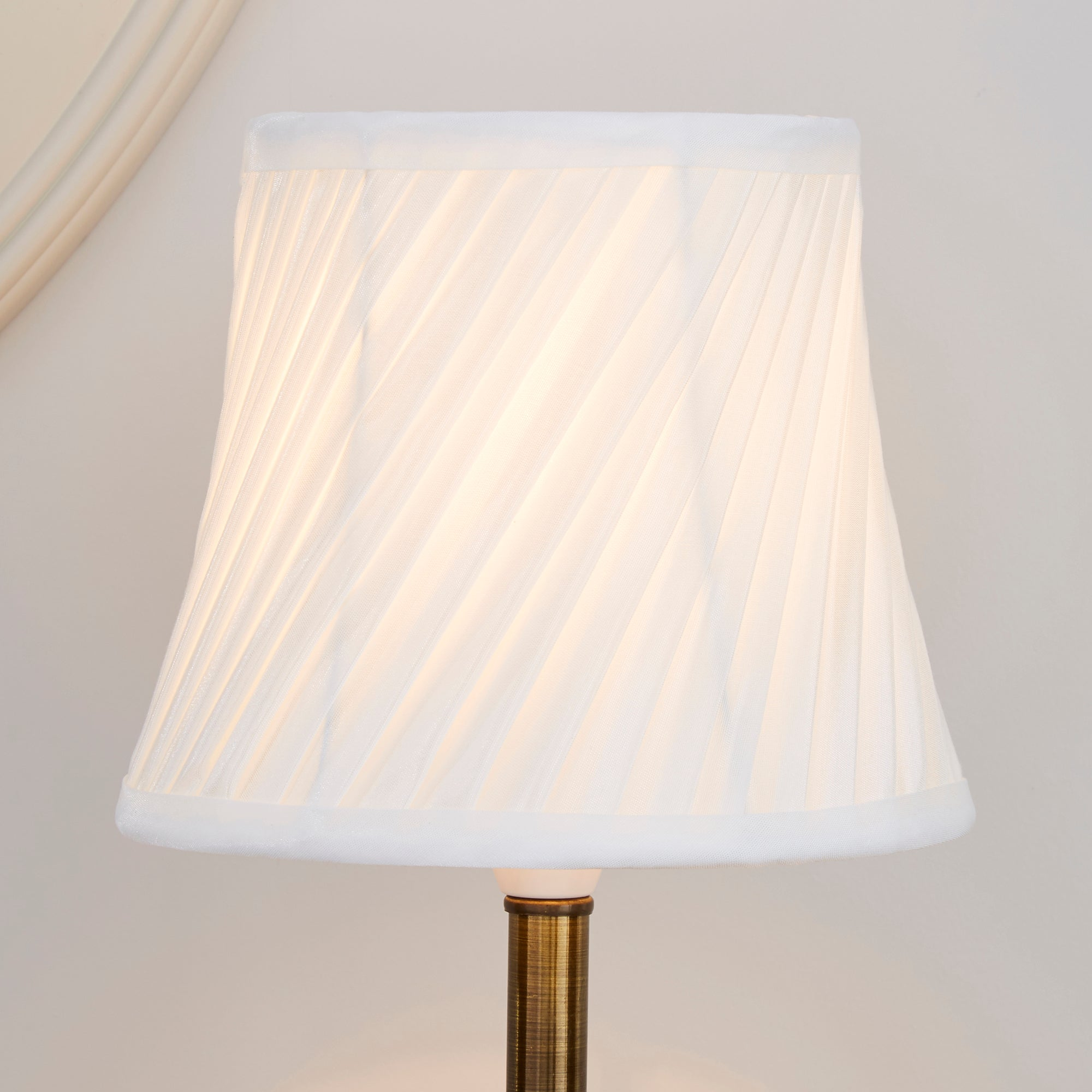 Dunelm Wall Lamp Shades : Ivory Twisted Pleat Lamp Shade Dunelm