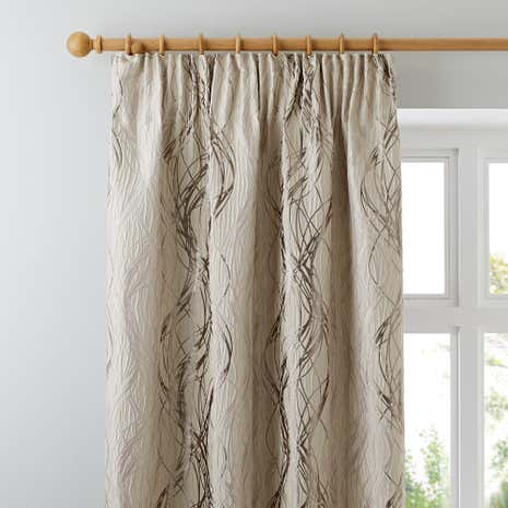 Victoria Cream Lined Pencil Pleat Curtains