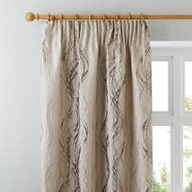 Cream Victoria Lined Pencil Pleat Curtains