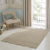 Natural Vintage Lace Wool Rug