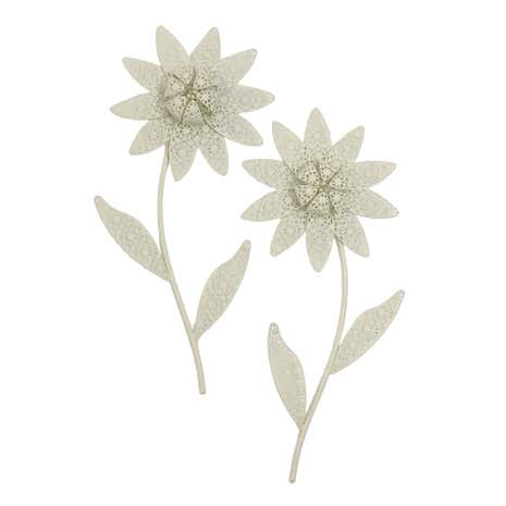 Set of 2 Vintage Flower Wall Art