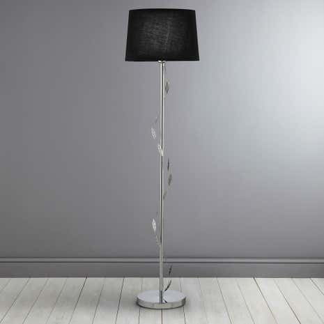 Black Deco Leaf Floor Lamp