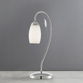 Leaf and Glass Table Lamp