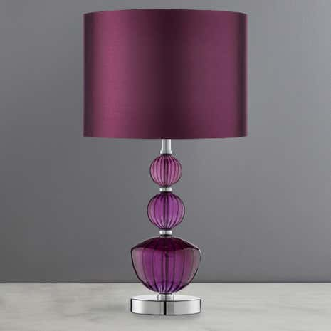 Stacked Glass Table Lamp