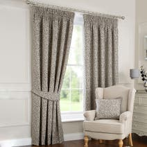 Grey Willow Lined Pencil Pleat Curtains