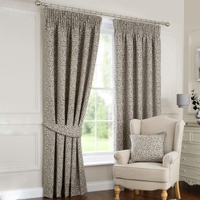 Willow Grey Lined Pencil Pleat Curtains