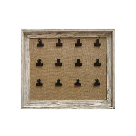 Wooden Bulldog Clip Memo Board