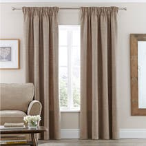 Natural Vermont Lined Pencil Pleat Curtains