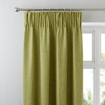 Green Vermont Lined Pencil Pleat Curtains