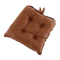 Tan Suede Effect Seat Pad