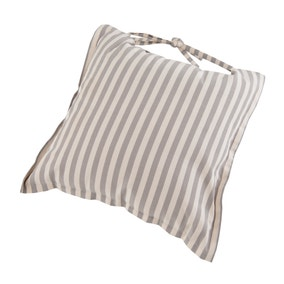 Linen Stripe Cushion Seat Pad
