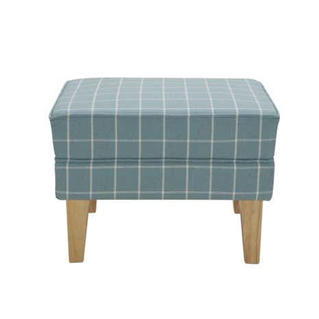 Duck-Egg Check Edinburgh Footstool