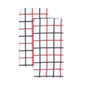 Pack of 2 Woven Check Tea Towels