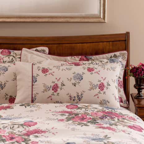 Dorma Lavinia Red Cuffed Pillowcase